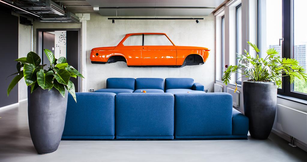 Scout24, Office, München, Munich, Officedropin.com, working, orange, car